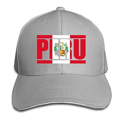 Odelia Palmer Gorras de béisbol para Adultos Bandera de Perú Gorra Tipo sándwich Ajustable Personalizada Casquette Sombreros CBH-131