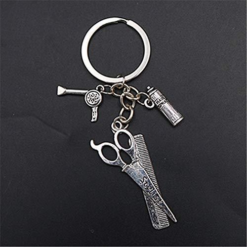 N/ A 1 stuks metalen haardroger & modelleerschaar & shampoo legering sleutelhanger DIY creatieve handgemaakte sieraden sleutelhanger