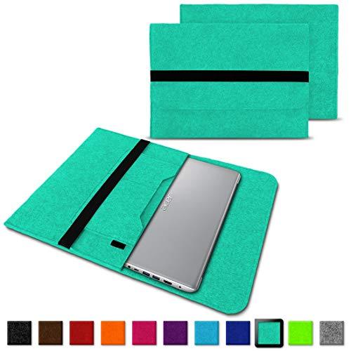 NAUC Notebook Tasche kompatibel mit Acer Swift 1 2 3 5 7 14 Zoll Hülle Filz Sleeve Hülle Schutzhülle Cover, Farben:Mint