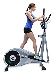 GOELLIPTICAL V-200 Standard Stride 17inc Programmable Elliptical Exercise Cross Trainer Machine for Cardio Fitness Strength Conditioning Workout at Home or Gym