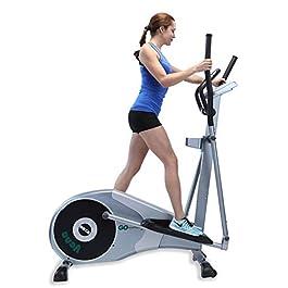 "GOELLIPTICAL V-200 Standard Stride 17"" Programmable Elliptical Exercise Cross Trainer Machine for Cardio Fitness…"