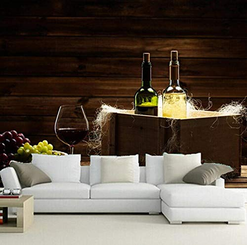 Fotobehang 3D muurschilderij druif wijn koffie wand woonkamer sofa TV muur slaapkamer 250*175cm #001