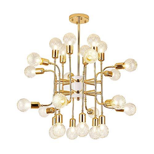 LYDIAMOON LED Kronleuchter Lüster Gold Kronleuchter Kerze Stil Europäische Moderne Lichter Für Wohnzimmer Esszimmer Geschäfte G9 Lampen Nicht Enthalten,16Heads