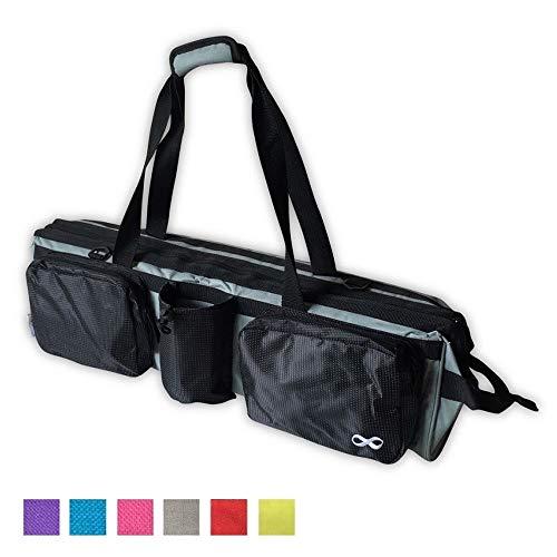 YogaAddict Yoga Mat Tote Gym Bag Supreme With Pocket & Zipper, 30'...