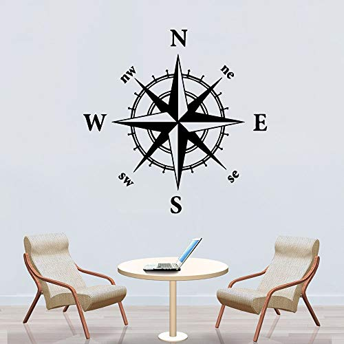 Tianpengyuanshuai Cartoon-Stil Kompass Home Dekoration Vinyl Wandaufkleber Wohnzimmer Schule Dekoration Aufkleber Wandbild 50X50cm