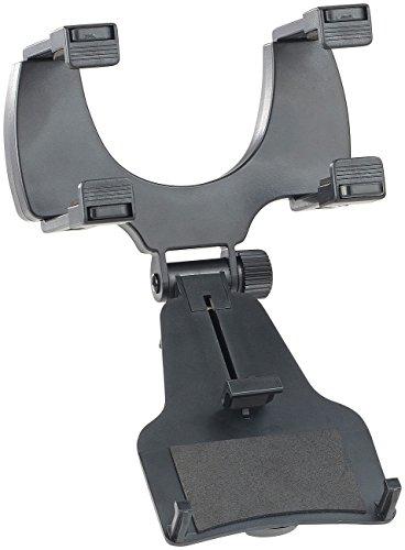 Lescars Handyhalter Rückspiegel: Universal-Kfz-Rückspiegelhalterung für Smartphones bis 12,7 cm (5