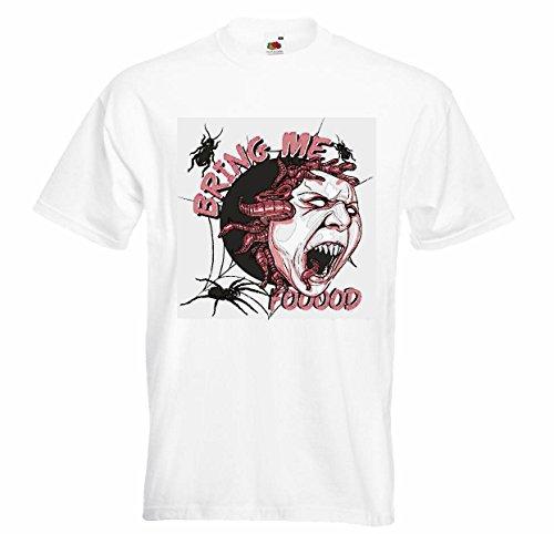 T-shirt voor zombi, zombi, spin, web, motorshirt, zombi, voor het lopen van de motorfiets, Toterto Gothic, schakelaar, dixon, bandhemd in wit