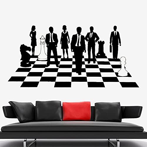 Jsnzff Calcomanías de Pared de ajedrez Estrategia Tablero de ajedrez Pegatinas de Pared Pegatinas de Vinilo Mural de Interior para el hogar Dormitorio Mural calcomanías 119x57cm
