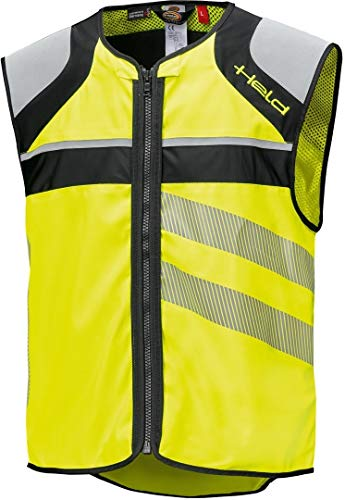 Safety Vest Held Zaklamp Led Zwart/Neonyellow L