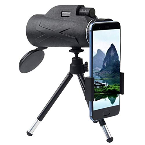 Monocular Telescope 80x100 High Definition Telescope Night Vision Monocular Waterproof Telescope Clear Telescopes with Compass, Smartphone Holder, Tripod for Bird Watching, Hiking, Camping, Concerts
