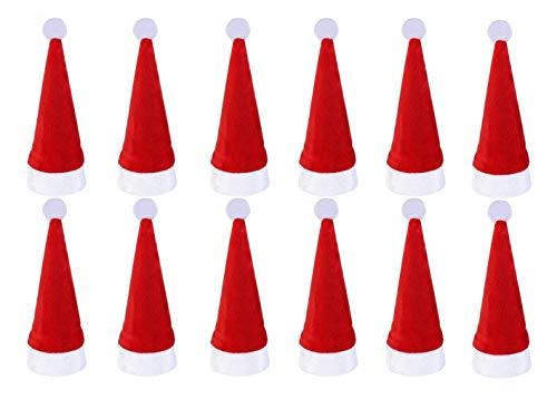 Inception Pro Infinite Set 12 Portaposate - Cappello Babbo Natale - Natalizio - Decorazioni - Arredo - Casa - Tavola - Schienali - Sedie - Festa - Addobbi - FESTIVITÀ
