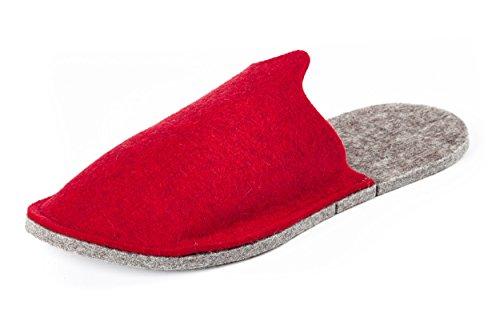 Orthopant Gästepantoffel - Hausschuhe Pantoffel aus naturreinem Filz für kuschelige Wärme und Wohlbefinden - GA-300-L