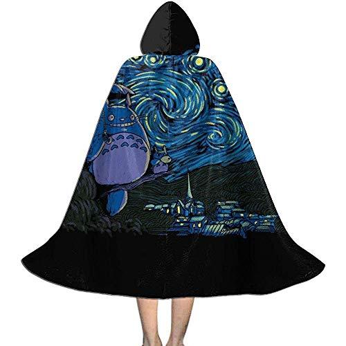 Niet van toepassing Capuchon Cape, Unisex Cosplay Rol Kostuums, Volwassen Robe Mantel, Mijn Buurman Totoro Van Gogh Starry Buurman Heks Wizard Mantel, Vampier Mantel, Halloween Party Decoratie Bovenkleding