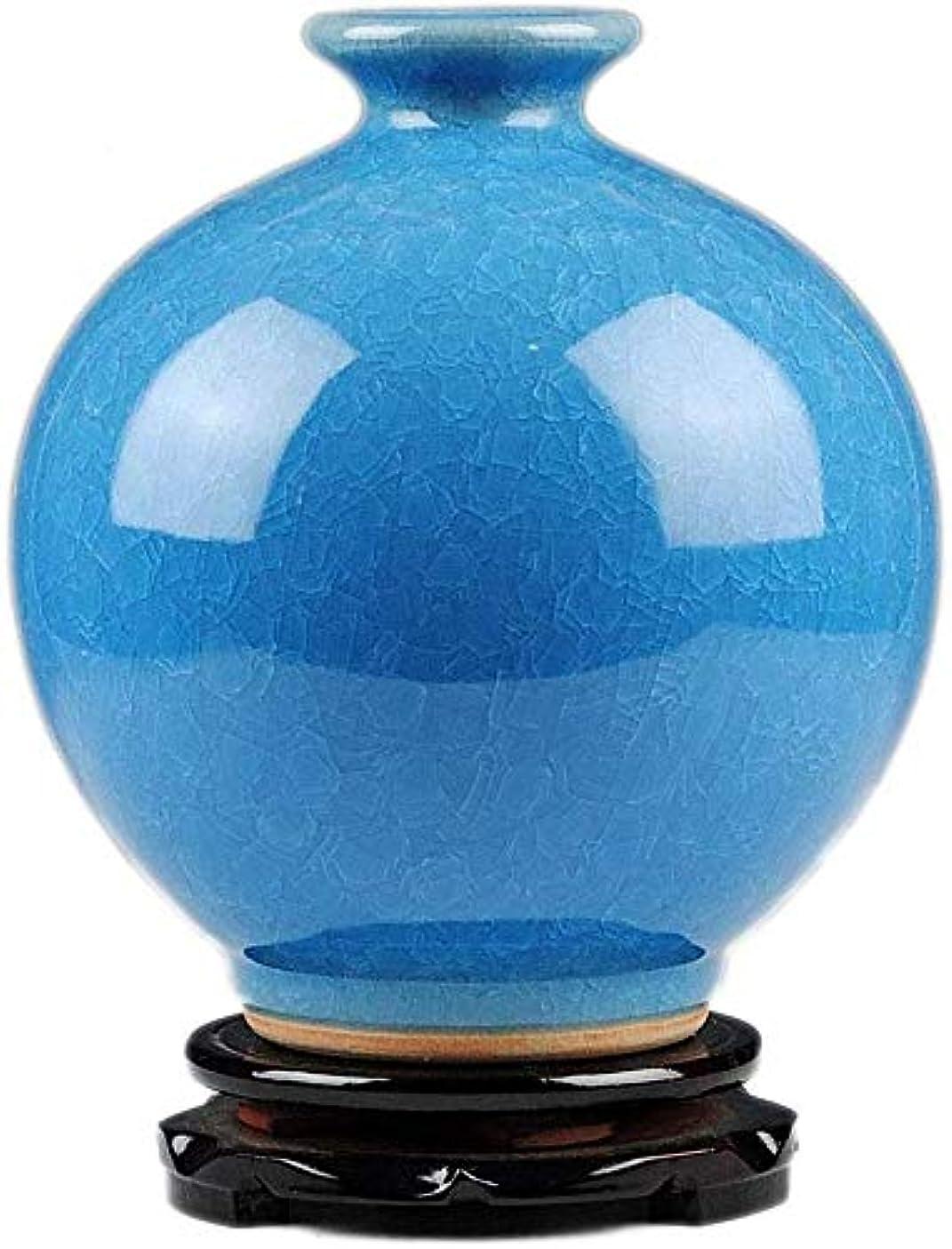 雨の慣性検出花器 花瓶クリエイティブ現代の花ホームリビングルームの装飾テレビキャビネットブルーマルチタイプのリビングルームオフィス21 * 19センチメートル 花瓶 (Color : B-21*19CM)