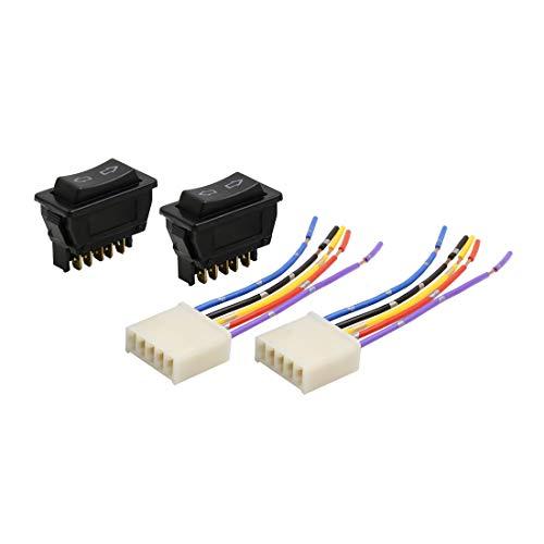 Sourcingmap - Interruptor de 5 pines para ventana de coche con arnés de cable DC 12 V 4 en 1