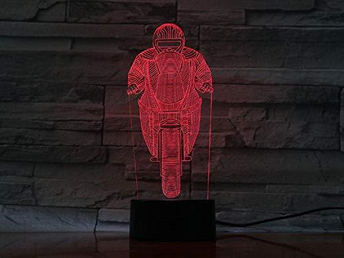 3D-Nachtlicht, Tischlampe Nachtlicht Motorradbeleuchtung Home Decoration Motor Zeigt Mehrfarbige Änderung Touch Remote Flash-Atmosphäre