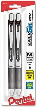 2-Pack Pentel 0.7mm Deluxe RTX Retractable Liquid Gel Pen
