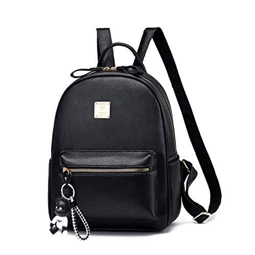 BUKESIYI Damen Tasche Rucksack Handtasche Frauen backpack Klein Anti Diebstahl Schulrucksack Laptop Weekender PU Leder CCDE78117 Schwarz