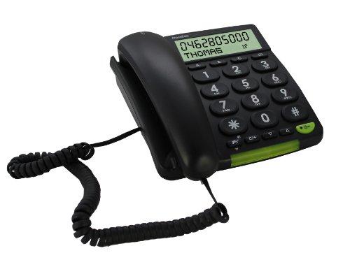Doro PhoneEasy 312cs Schnurgeb&enes Großtastentelefon mit großem Bildschirm schwarz