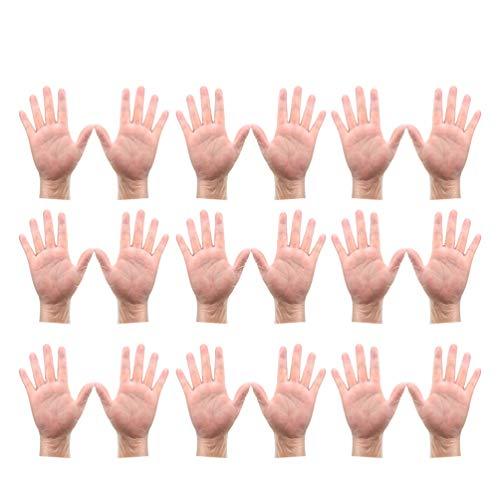 Artibetter 50 Stück Einweghandschuhe Medizinische Handschuhe Ölfeste wasserdichte Handschuhe zum Kochen Reinigen Waschen Malen