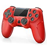 【Manette pour PS4】La manette sans fil pour PS4 / PS4 Slim / PS4 Pro. Haute performance, la conception est vraiment ergonomique, en particulier les sticks analogiques sont réactifs et fluides, qui ne sont presque pas de décalage d'entrée et de dérive ...
