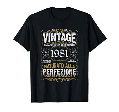 Vintage 1981 40 Anni Regalo 40° compleanno Uomo Donna Maglietta