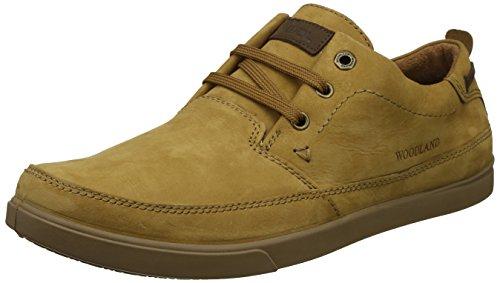 Woodland Men's Camel Leather Sneakers - (11 UK)