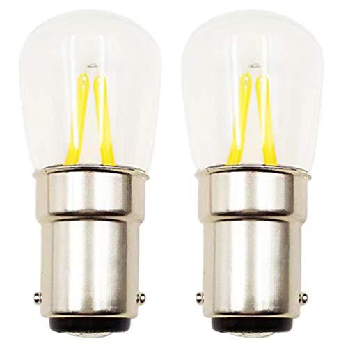 SOLUSTRE 2 Piezas B15 1. 5W Bombillas LED Bombilla Incandescente Lámpara de Techo Bombilla de Repuesto para Refrigerador Y Cocina