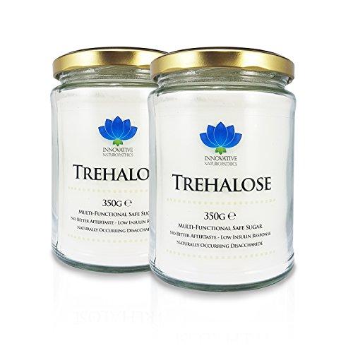 Innovative Naturopathics Trehalose - Tarro de 350 g, polvo 100% puro Pack de 2