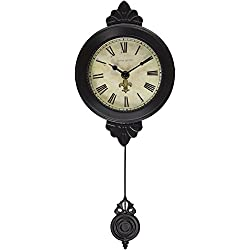 Ashton Sutton H1127-15BR Petite Pendulum Wall Clock