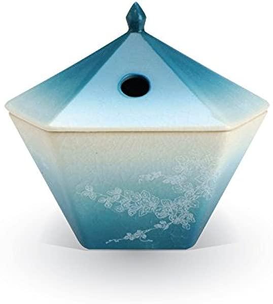 Nippon Kodo Yukari Incense Burner Ivy Blue Japanese Quality Incense Since 1575