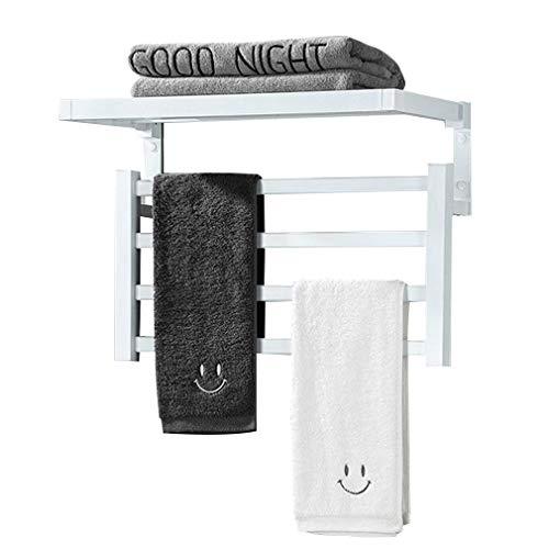 Toallero con calefacción simple Calentador de toallas, 4 barras Toallero con calefacción eléctrica Montaje en pared Enchufable / Cableado Toallero con calefacción, Calentador de pared Radiador