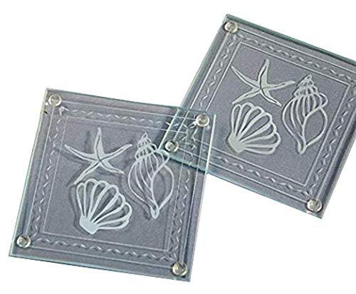 "Beach Theme Glass Coaster Wedding Favors: Seashell "" Starfish Coasters, 144"