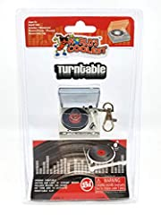 Actually works! Features a moving tone arm, spinning platter and light up strobe no sound