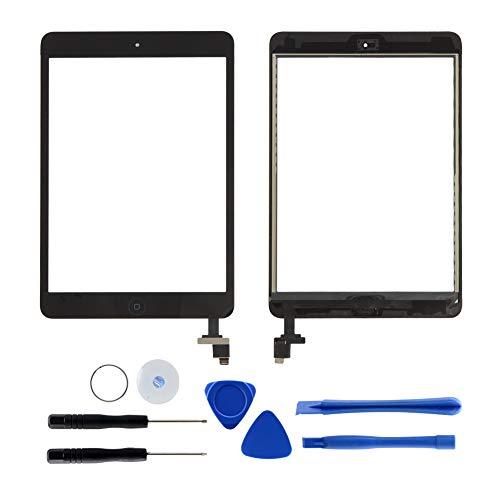 Ersatz-Touchscreen Digitizer für iPad Mini 1 & 2 mit IC-Chip, Home-Button, Werkzeug und Kleber für A1432 A1454 A1455 A1489 A1490 A1491