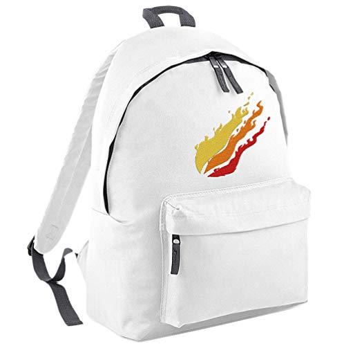 TeeIsland Preston Flame Backpack (White)