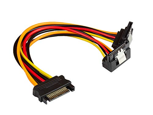 Good Connections SATA Y stroomkabel - SATA stekker aan 2x SATA bus gehoekt - ca. 20 cm.
