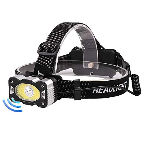 Linternas frontales Con faros LED COB XPG + super brillante pesquero Faro 4 modos de iluminación for acampar impermeable alimentado por la batería 18650 iluminación ( Emitting Color : Package E )