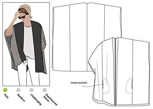 Style Arc Sewing Pattern - Mickie Cape (Sizes 04-16) - Click for Other Sizes Available