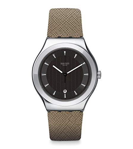 Swatch Reloj Analógico para Hombre de Cuarzo con Correa en Cuero YWS448