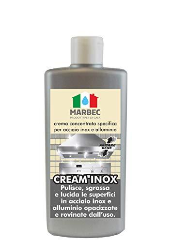 Marbec - Cream Inox 250 GR   Crema concentrata specifica per Acciaio Inox e Alluminio