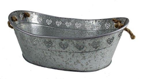 standART 42 Nexos Trading - Bañera de zinc con asas (61 x 41 x 24 cm)