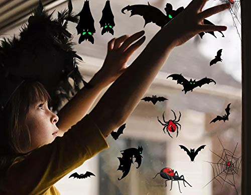 heekpek 105 PCS Adesivo Notte Fantasma di Halloween Adesivi Impronta Insanguinata Adesivi Insanguinati Adesivi per Pavimenti Adesivi Murali Finestra per Halloween Decorazioni per Feste Forniture