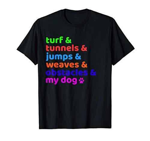 Dog Agility Equipment Course Training T-Shirt