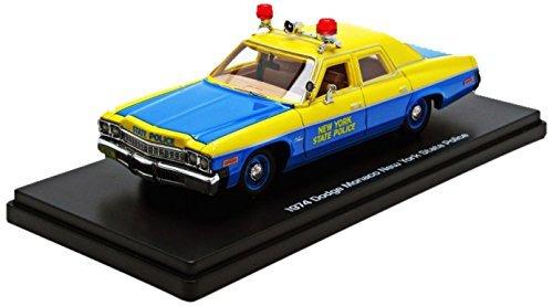 Auto World - Awr1150 - Véhicule Miniature - Modèle À L'échelle - Dodge Monaco - Police New York - 1974 - Echelle 1/43 by Auto World