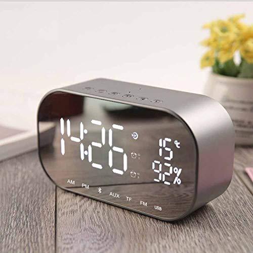 Tafel Houlian shop elektronische wekker elektronische studenten creatief eenvoudig lichte muziek multifunctioneel horloge met Bluetooth, radio, spiegel, luidsprekeraudio.