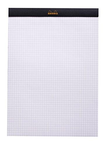Rhodia Staplebound Pad No.18 - A4 (8.25 x 11.75 inches), Graph, Black