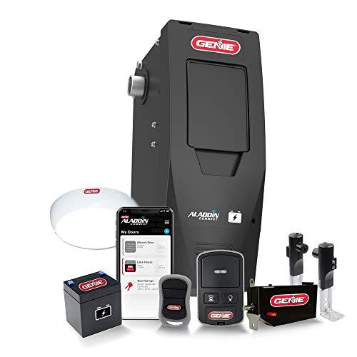 Genie B6172H Smart Wall Mount Garage Door Opener, DC Motor Lifts up to14ft high, Sectional 850lbs in Weight, Black