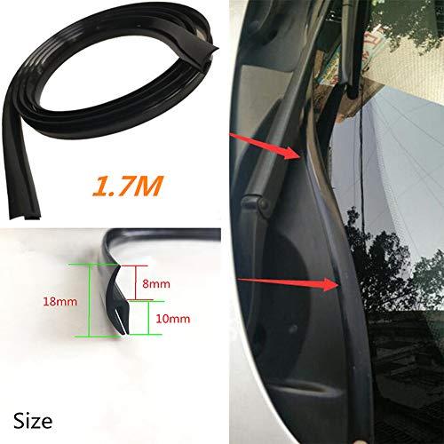 Derkoly 1.7 m Universal Auto Car Avant fenêtre de Pare-Brise en Caoutchouc Seal Moulure Strip – Noir