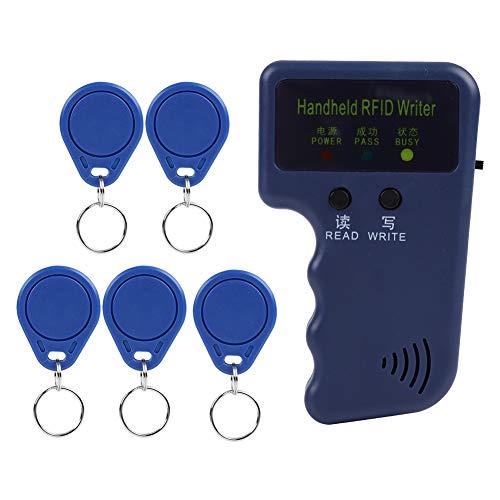 RFID-Handkopierer, tragbarer Tangxi-Handkopierer mit 125 kHz, RFID-ID-Kartenschreiber, Kopierer und -Kopierer mit 5 Tags, beschreibbare RFID-Schlüsselkarten, EM4100 / EM410X